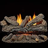 Bluegrass Living B30PR-ES1 Vent Free Propane Gas Log Set-30 Inch Traditional Oak, 32,000 BTU, Remote Control