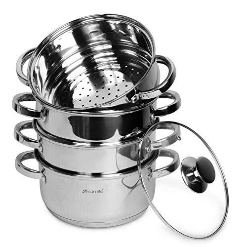 4,5L Dampftopf Mantowarka Dampfkocher Dampfkochtopf Dampfgarer Mantykocher Gyoza Geschirr Küche Manti