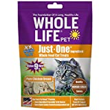 Whole Life Pet USA Sourced and Produced Human Grade Freeze Dried Chicken Breast Cat Treat Value Pack, Protein Rich for Training, Picky Eaters, Digestion, Weight Control, 9 Ounce