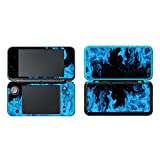 FOTTCZ Whole Body Vinyl Skin Sticker for New 2DS XL/LL - Ice Blue Flame