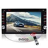 EinCar Car Double Din DVD Player Bluetooth Car Stereo 6.2 Inch in Dash Head Unit GPS Navigation System with Capacitive Touch Screen FM/AM Radio RDS Receiver Support 1080P SWC CAM-in USB TF AUX