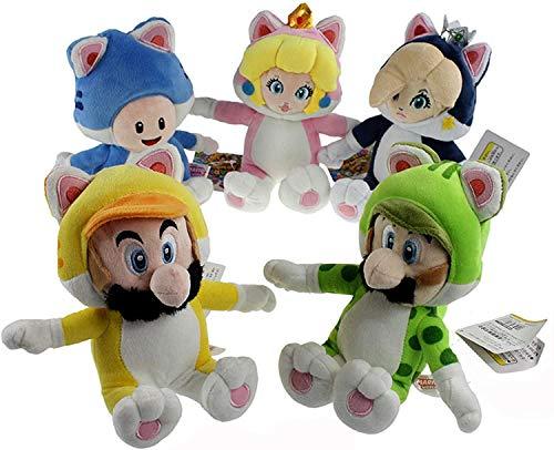 Jellycat conejo gris llavero de niffler cxjff Forma felina 5X Super Mario Bros Mario Luigi Peach Rosalina sapo de peluche de juguete de peluche Animal 7 pulgadas Los productos generalmente se emiten d