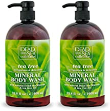 Dead Sea Collection Mineral Body Wash with Tea Tree Oil Invigorates and Detoxifies 67.6 fl.oz Set of 2