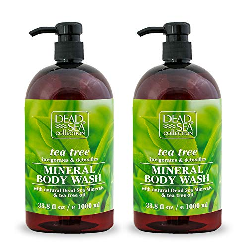 Dead Sea Collection Mineral Body Wash with Tea Tree Oil Invigorates and Detoxifies 67.6 fl.oz Set of 2