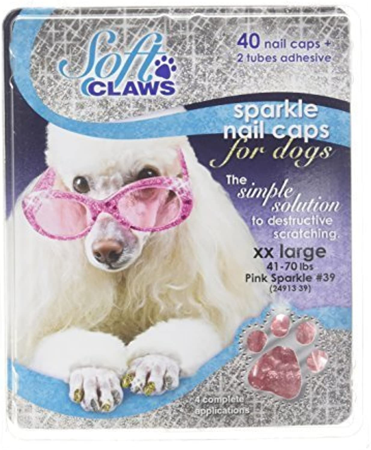 Canine Soft Claws Nail Caps, XXLarge, Pink by Soft Claws