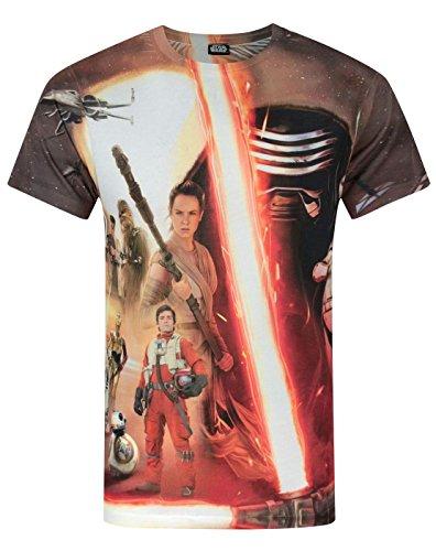 STAR WARS Hombres The Force Awakens - Camiseta (XXL)