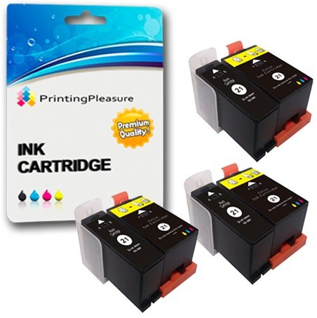 6 (3 SETS) Compatible Dell Series 21 Ink Cartridges for Dell P513W P713W V313 V313W V513W V515W V51 V715W - Black/Colour, High Capacity