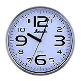 Reloj de pared de cuarzo de acero inoxidable de 30,5 cm para silenciar la decoración del hogar, color plateado