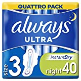 Always Ultra Nuit avec ailes Taille 3 Coussinets, 40 Value Pack
