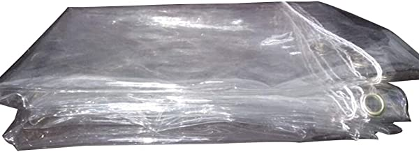 LIXIONG dekzeil PVC verdikt transparant stofdicht winddicht plantenregendoek, 14 maten (kleur: helder, grootte: 1.8x2m)