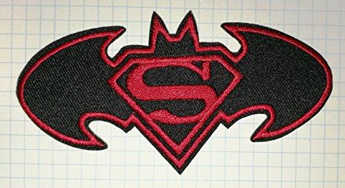 Parches tela bordada Batman Superman pegar plancha
