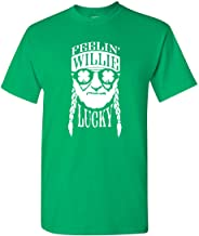 Ameritrends Feelin' Willie Lucky Funny St Patrick's Day Shirt Heavy Cotton T-Shirt - Green