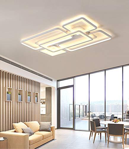 Lámpara LED de techo regulable, lámpara de techo para salón, moderna, rectangular,...