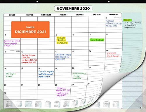 Calendario de Pared 2020 2021 de SmartPanda – Calendario Mensual de Sobremesa – Julio 2020 a Diciembre de 2021 – Vista de un Mes – 33 cm x 43 cm