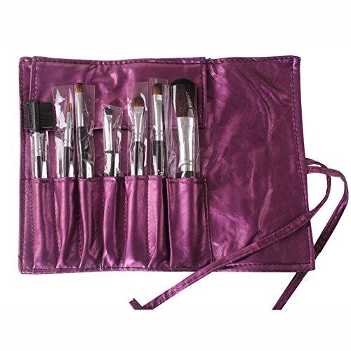 XUAN Brosse cosmétiques mis fibre de maquillage brosse sac , purple