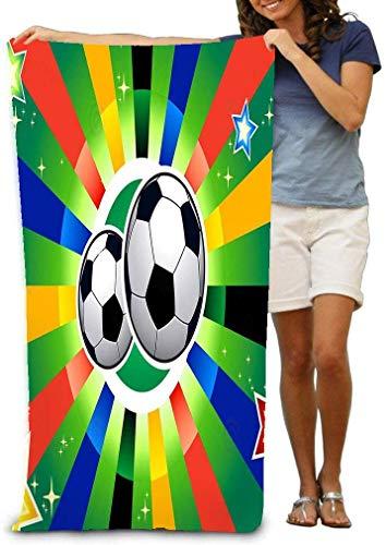 31x51 Inch High Absorbency Bath Towel Large Bath Sheet for Beach Home Spa Pool Gym Travel Soccer Balls Fun