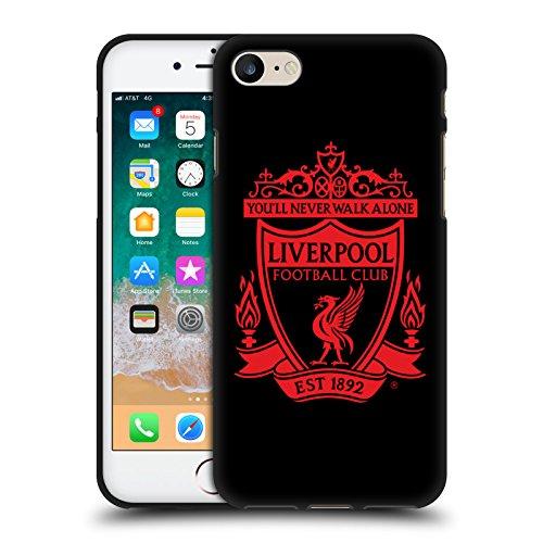 Head Case Designs Offizielle Liverpool Football Club Schwarz 2 Crest 1 Schwarze Soft Gel Handyhülle Hülle Huelle kompatibel mit Apple iPhone 7 / iPhone 8 / iPhone SE 2020