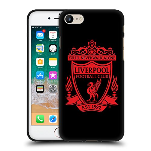 Head Case Designs Offizielle Liverpool Football Club Schwarz 2 Crest 1 Schwarze Soft Gel Handyhülle Hülle Huelle kompatibel mit Apple iPhone 7 / iPhone 8 / iPhone SE 2020