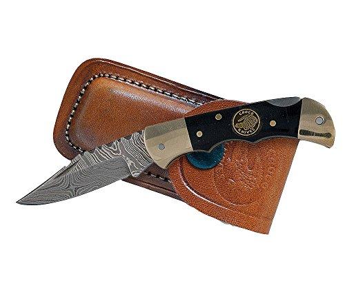 Croco Knives Damascus–Navaja Plegable 5Longitud de la Hoja: 5.3cm, 12.3cm, 333007