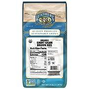 Lundberg Family Farms - Organic Brown Short Grain Rice, Subtle Nutty Aroma, Clings When Cooked, 100% Whole Grain, High Fiber, Pantry Staple, USDA Certified Organic, Gluten-Free, Non-GMO, Vegan (25 lb)