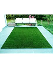 Fresh From Loom Artificial Grass Mats Carpet for Balcony - Natural Looking Garden Green Lawn Grass Carpet for Home Decoration - Floor Mat for Living Room Bedroom and Office- Summer Use