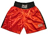 Ring to Cage Traditional Boxing Trunks, Blue or Red Color. Kids and Adult Sizes (Small (Waist 28-30'), Red)