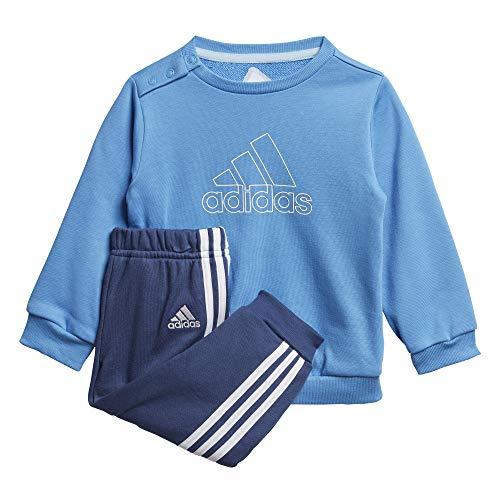 adidas Baby I Dmh Logo Sportanzug Kinder, Lucblu/White, 80