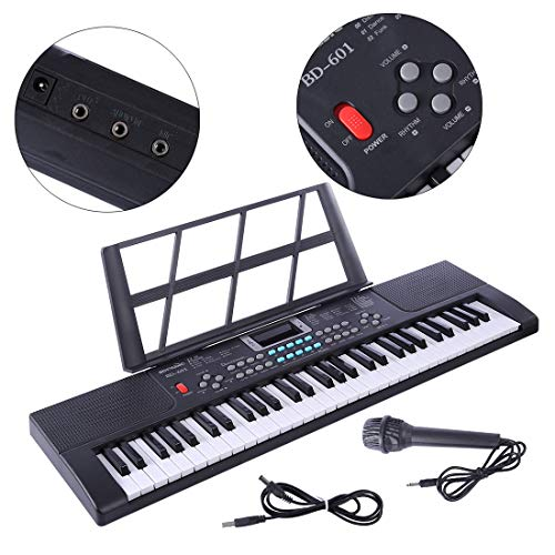 LVPY Piano Jouet, Clavier Electronique 61 Touches Piano Enfants Clavier avec Microphone- Keyboard...