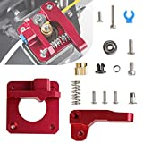 Creality 3D Printer Extruder, Upgraded Aluminum Drive Feed for 3D Printer 1.75mm Filament Works with Creality 3D Printers CR-10 Series, Ender 5 Series, Ender 3 Series- Red