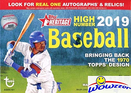 2019 Topps Heritage High Number Baseball EXCLUSIVE Factory Sealed Retail Box! Brand New! Look for Rookies & Autos of Pete Alonso, Vladimir Guerrero Jr, Fernando Tatis Jr, Austin Riley & More! WOWZZER!