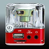 ORETG45 Tragbarer Mini-Lautsprecher, LED-Display, MP3/4-Player, SD/TF, USB-Disk, FM-Radio, für iPhone / MP3-PC, nicht null, rot, Free Size