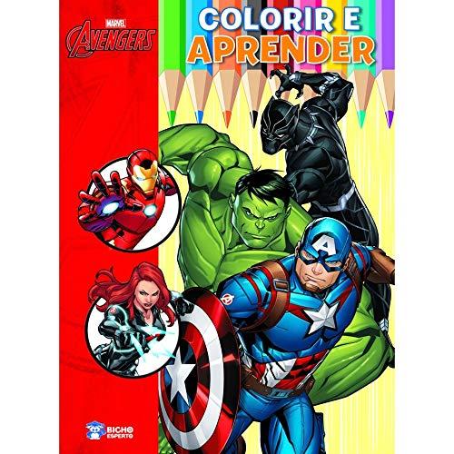 Colorir e Aprender Marvel - os Vingadores