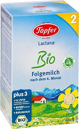 Poterie Lactana Bio 2 lait de suite - à partir de 6 mois, 4 Pack (4 x 600 g)