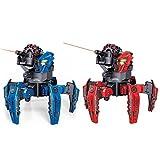 SPACE WARRIOR スペースウォリアー 対戦型 おもちゃ ロボット ラジコン 戦車 日本語説明書付 (レッド1体×ブルー1体セット)