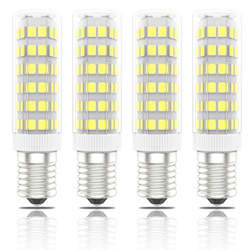 Phoenix-LED E14 Lampe 7W,Leuchtmittel ersetzt 60W Halogenlampen,Kaltweiß,560lm,Energiesparlampe für Kühlschrank Kronleuchte Mikrowellen Dunstabzugshaube Wandlampe (4er-Pack)
