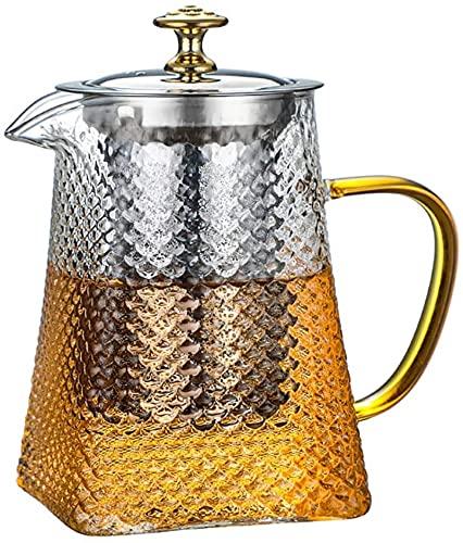 Tetera de vidrio con infusor extraíble de acero inoxidable para té floreciente y té de hojas sueltas, tetera de vidrio soplado a mano de alta calidad, caja de regalo, 700 ml