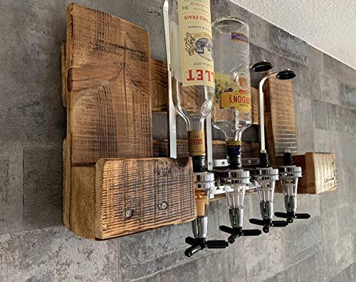 GETRÄNKESPENDER HOLZBAR 4cl für 4 Flaschen Holzbar aus Europaletten Deutschland Österreich