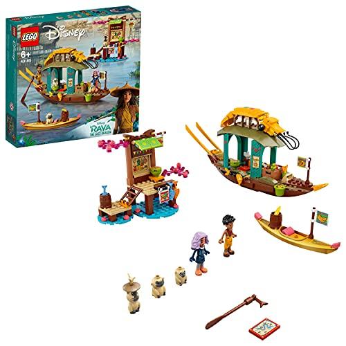 LEGO 43185 Disney Princesa Barco de Boun Juguete de construcción con 2 Mini Muñecas de la película Raya and The Last Dragon