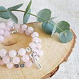 Bracelet d'allaitement quartz rose - permet de noter l'heure de la dernière tétée ou dernier biberon - modèle Lesmana
