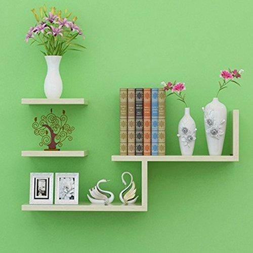 WLH- Plank van de Muur Wandversiering Bookshelf Wall Plate muurverdeling TV wandplank Bedroom (Color : B)