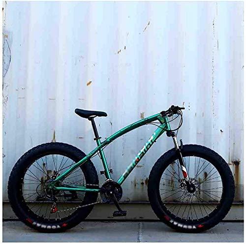 aipipl Bicicleta Bicicleta de montaña MTB Playa para Adultos Motos de Nieve Bicicletas para Hombres y Mujeres Ruedas de 24 Pulgadas Velocidad Ajustable Freno de Disco Doble Bicicleta Todoterreno