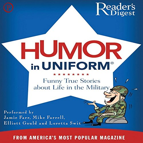 Readers Digest's Humor in Uniform audiobook cover art