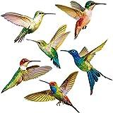 6Pcs Pegatinas para ventana de pájaros, Pegatinas de Colibrí, Etiqueta de la pared de los pájaros, Calcomanías Ventana para Vidrio, Evite que los pájaros choquen con ventanas, puertas y vidrios.