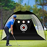 Newtion 6.6 x 4Ft Golf Net Black - Portable Golf Hitting Net with Carry Bag and Target for Kids and Adults Backyard Driving and Swing Chipping,Practice Golf Training Aid, Game,Home