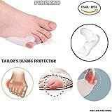 Korrektur für Schneiderballen aus weichem Gel von Pedimend - Gel-Zehenspreizer für Bunionette-Deformität - Zehenspreizer für den kleinen Zeh - richtet gebogene Zehen gerade aus - Fußpflege