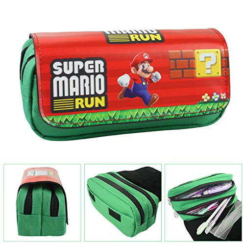FENGHU Super Mario Mochila Classic Game Super Mario Walltets Estuche para mujer, neceser de maquillaje organizador para niños, bolsas de dibujos animados