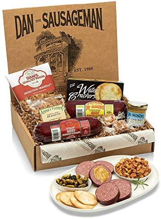 Dan the Sausageman s Klondike Gift Box Featuring Dan s Original and Garlic Smoked Summer Sausages product image