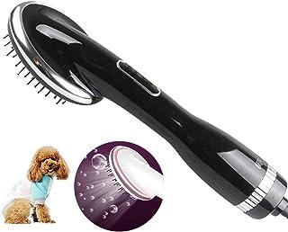 Secador De Pelo De Aseo Secador De Mascotas Secador De Pelo Casero Portátil para Mascotas 2 En 1 para Perros Medianos Gatos con Pincel Y Cepillo Pulido