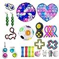 Fidget Toys Pack Barato, Antiestres Fidget Toy Set, Fidget Toy Set con Pop it Cubo de malla de mármol Cuerda elástica Fidget Juguetes sensoriales Surtido de juguetes especiales para niños y adultos de shenruifa