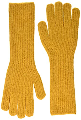ONLY Damen ONLTESSIE KNIT RIB GLOVES LONG Winter-Handschuhe, Golden Yellow, ONE SIZE
